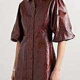 Ganni Leather Mini Dress ($945)