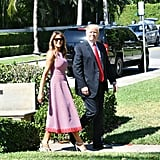 Melania Trump Pink Dress on Easter 2018