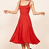 Reformation Rou Midi Fit & Flare Dress in Fruit Punch