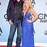 Blake Shelton joined his wife, Miranda Lambert, on the red carpet at the CMAs in Nashville on Wednesday night.