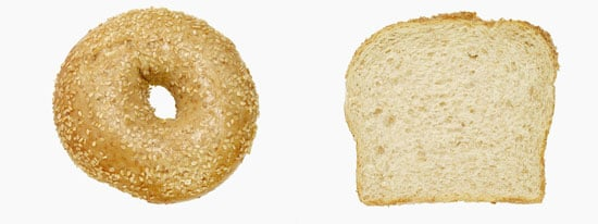 Calorie Wise: A typical bagel is equal to how many slices of bread?