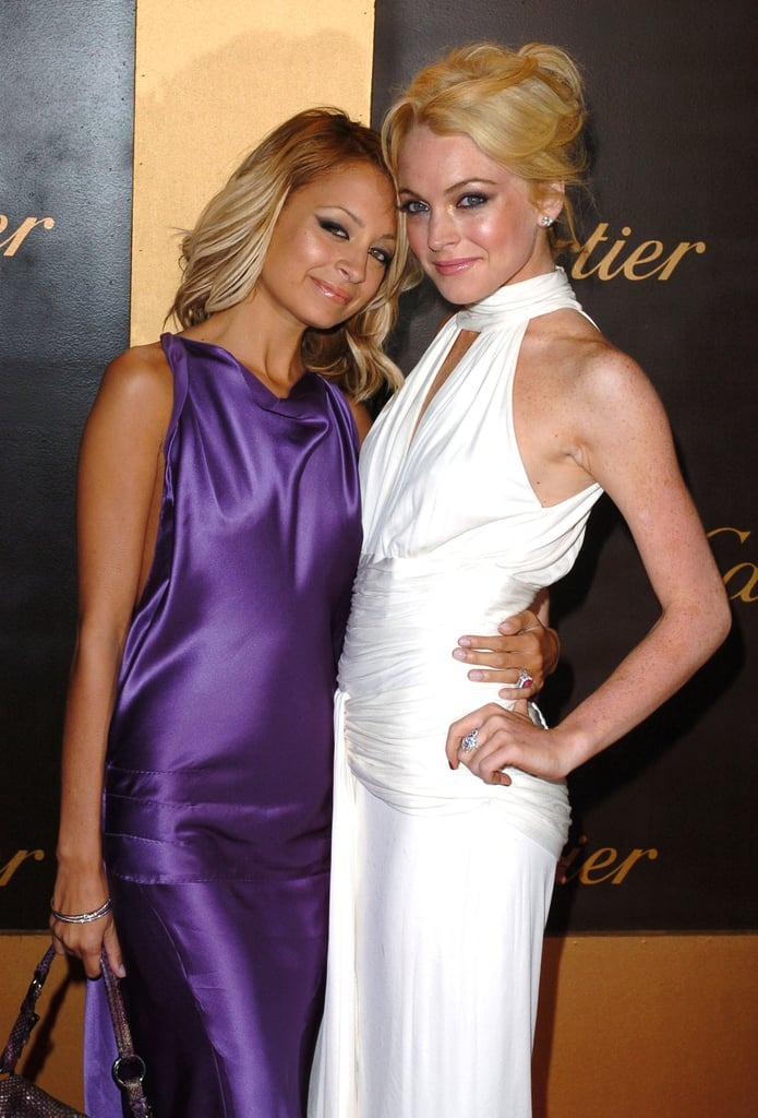 How's this for a blast from the past? Nicole and a blond Lindsay Lohan stepped out together for a Cartier bash in May 2005.