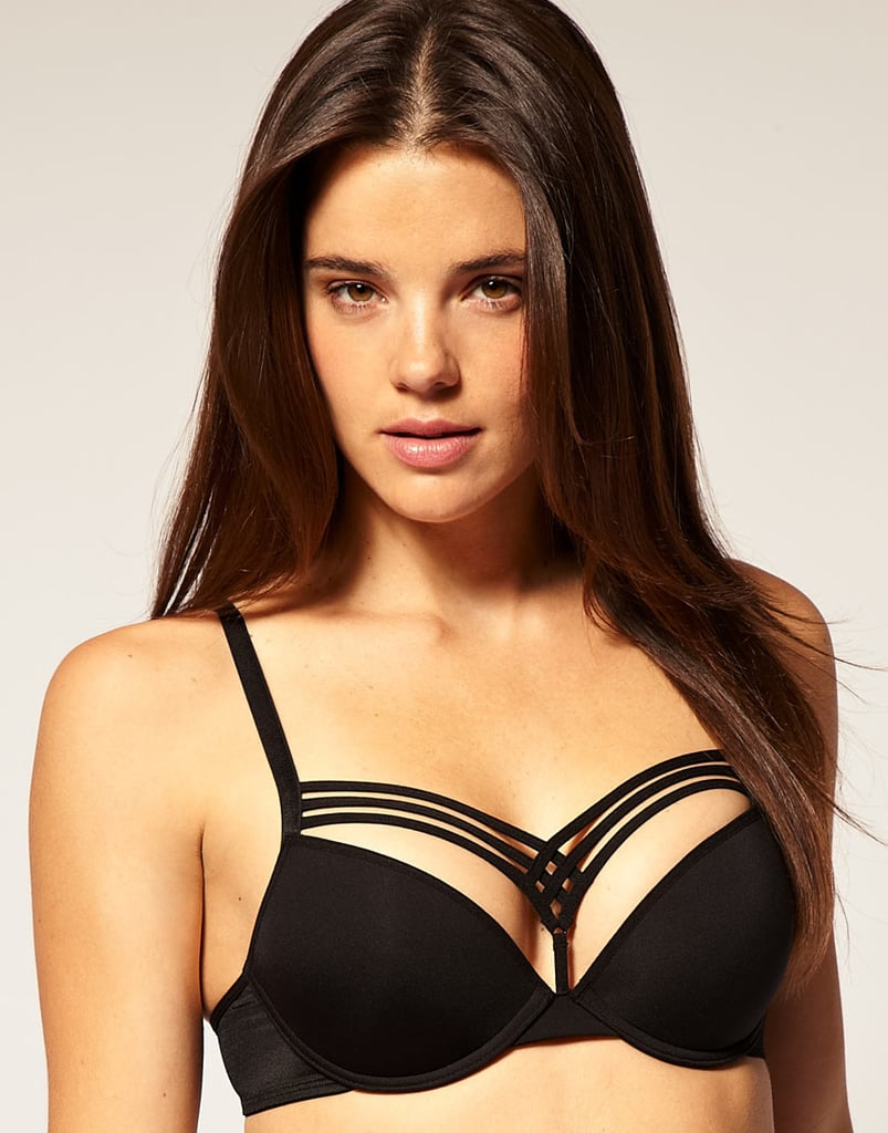 This is definitely a bit edgier and has a push-up bra to give you extra shape. The triple straps are meant to show above low tops. Marlies Dekker Dame de Paris bra ($129)
