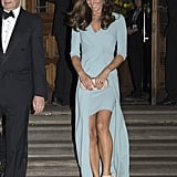 Kate Middleton wearing Jenny Packham.