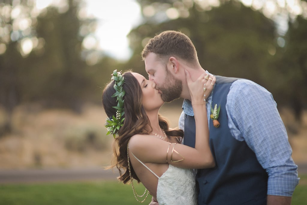 Katy and Dave's wedding took place outdoors in the Pacific Northwest mountains with the beauty of central Oregon surrounding them. See the wedding here!
