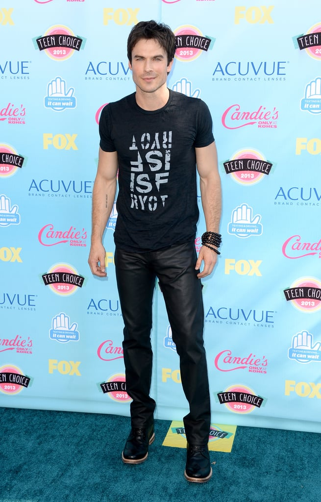 Ian Somerhalder attended the 2013 Teen Choice Awards.