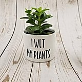 I Wet My Plants Punny Plant Pot