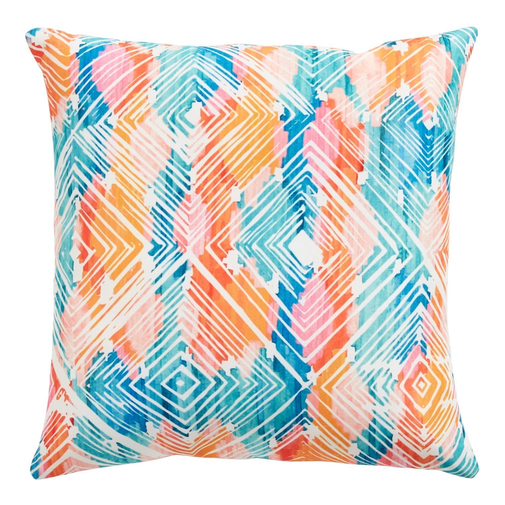 Digital Watercolor Geometric Pillow