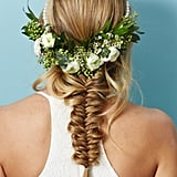 The Hairstyle: A Pancaked Fishtail Braid With Loose Beach Wabes