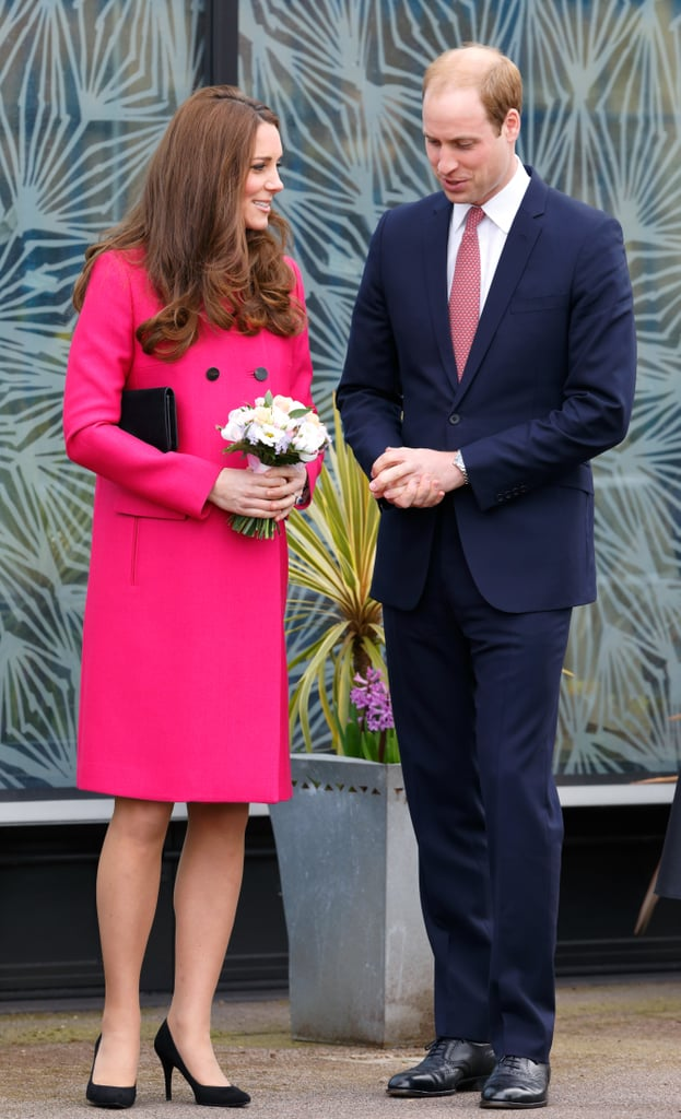 A Bold Pink Coat Calls For a Busy Pink Tie