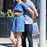 Adam Shulman wrapped his arms around Anne Hathaway during a shopping date in LA in August 2012.