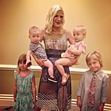 Tori Spelling celebrated Mother's Day with her four little ones. Source: Instagram user torianddean