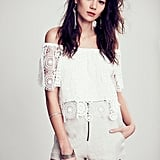 Nightcap White Lace Off-the-Shoulder Top