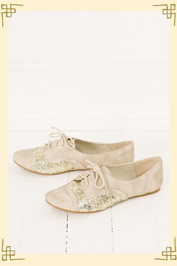 Everyone should own a pair of Oxford shoes. Let me be more specific. Everyone should own these  Twinkle Oxford's from Francesca's ($38). They are the perfect mixture of boyish charm and feminine flare.   -– Colleen Doyle, editorial intern