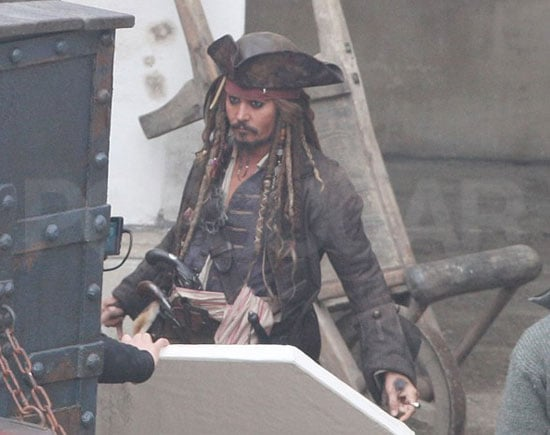 Pictures Of Johnny Depp Filming Pirates Of The Caribbean 4