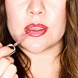 Once the liner has been blended, apply the lighter shade of lipstick (or gloss) to the inner portion of the lips. I used Mally Beauty H3 Lip Gloss in Tea Rose ($20), which is more of a liquid lipstick.    If you chose to skip the liner blending, use a lip brush to apply the gloss for a more defined finish.