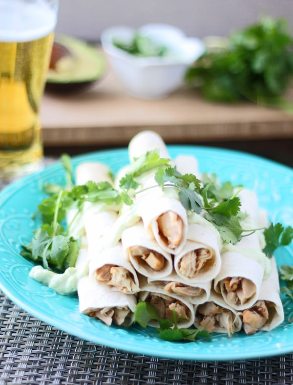 Chipotle Chicken Flautas