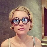 Jessica Stam wore a pair of goofy glasses. Source: Instagram user jess_stam