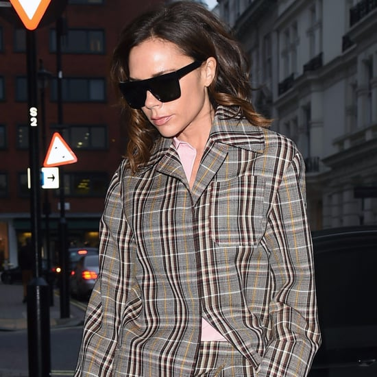 Victoria Beckham Plaid Pants December 2016