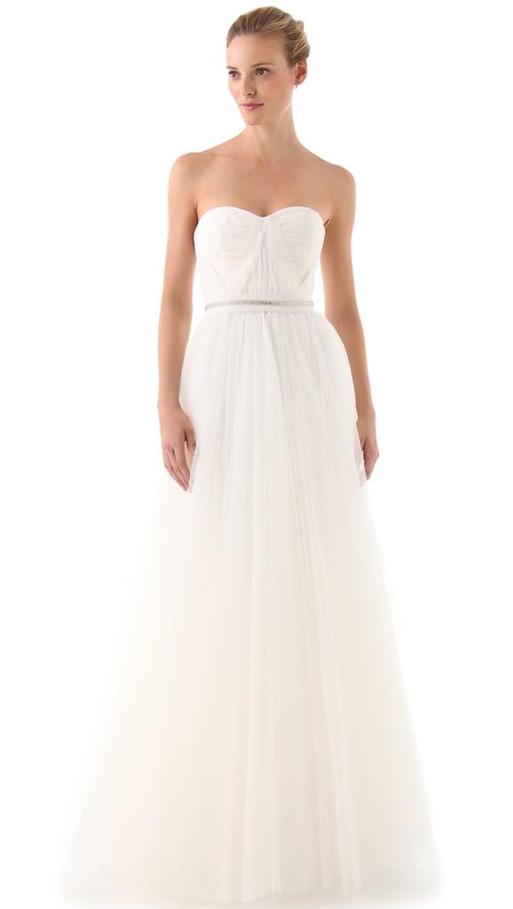 Reem Acra Virtue Strapless Gown ($2,800)
