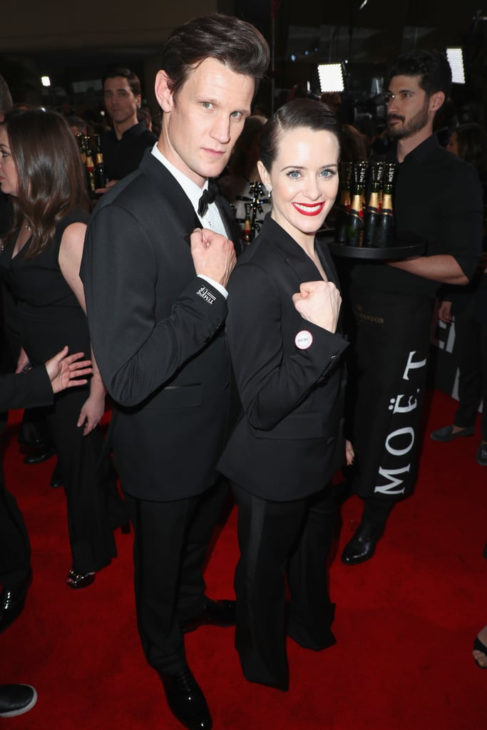 Pictured: Matt Smith and Claire Foy
