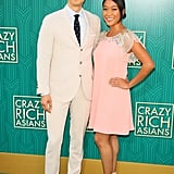 Pictured: Harry Shum Jr. and his wife Shelby Rabara