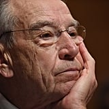 Senate Judiciary Committee Chairman Grassley listens to Ford's testimony.