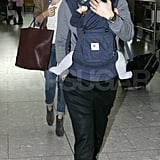 Miranda Kerr was at Heathrow around the time it was announced she'll hit the runway for Victoria's Secret this year.