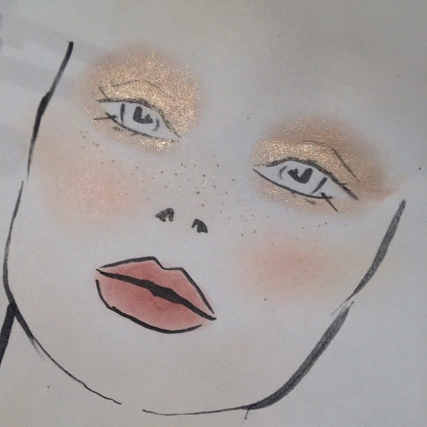 Freckles and fairy dust dominated the makeup look at Rachel Zoe.