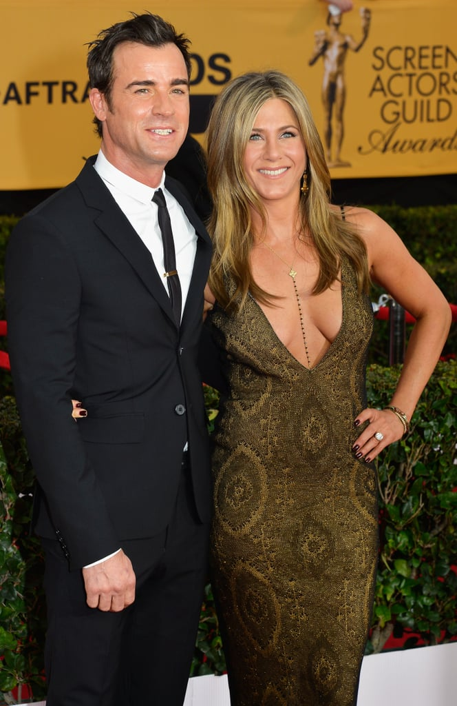 Jennifer Aniston and Justin Theroux were all smiles on the red carpet in 2015.