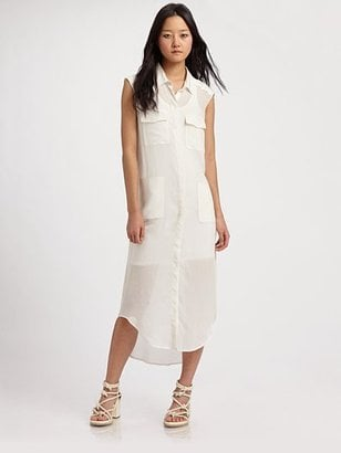 T by Alexander Wang Silk Chiffon Shirt Dress ($210)