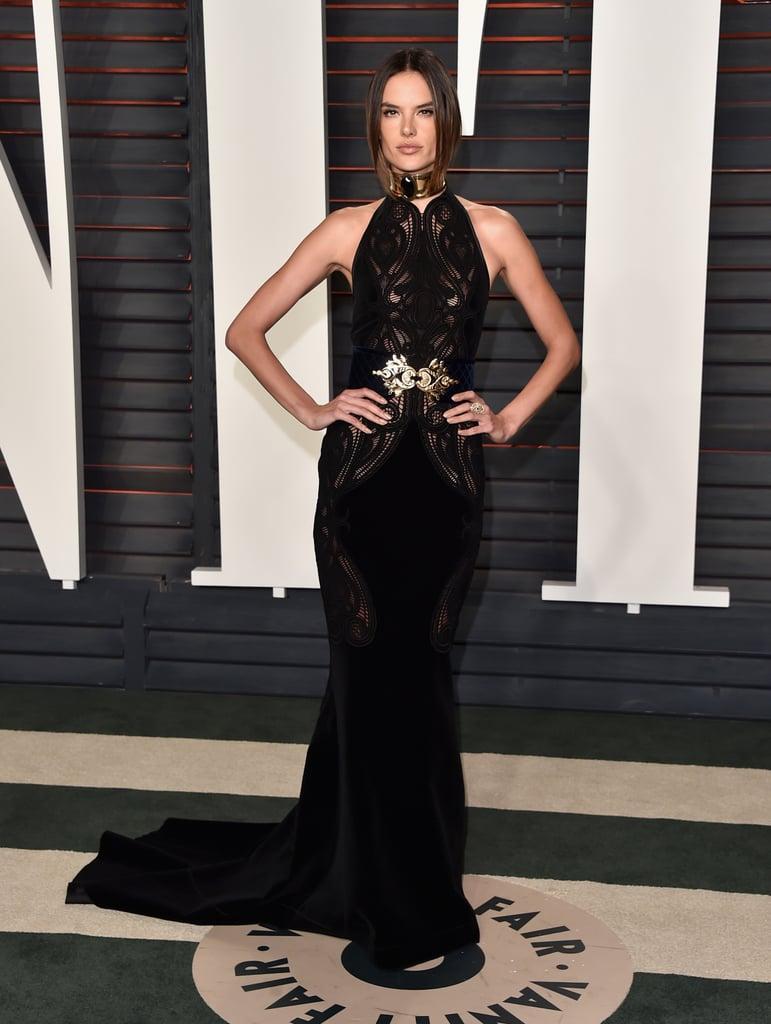 Alessandra Ambrosio At The Oscars Vanity Fair Party 2016