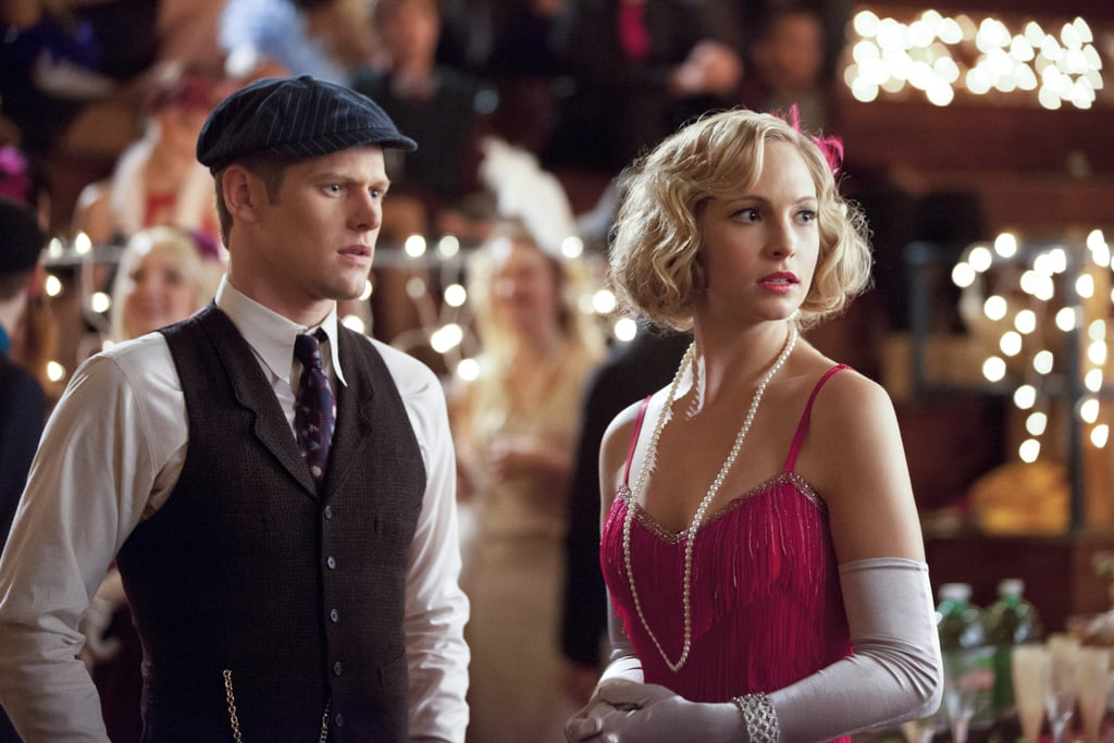 Zach Roerig as Matt and Candice Accola as Caroline on The Vampire Diaries.