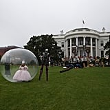 And bottom line: where else will you see Glinda the Good Witch — in a bubble?