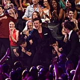 One Direction Celebrating Their Win at the MTV VMAs in 2012
