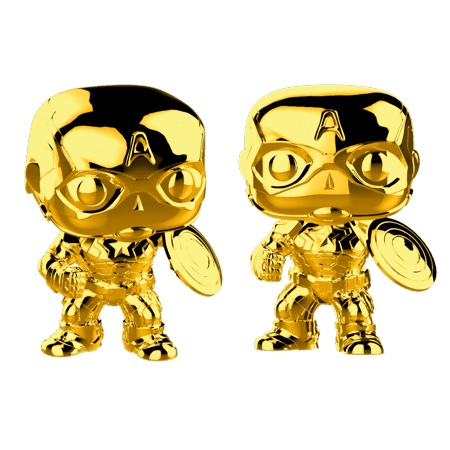Chrome Gold Captain America Funko Pop
