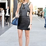 Chiara Ferragni gave us a street-cool lesson in wearing overalls and a crop top.