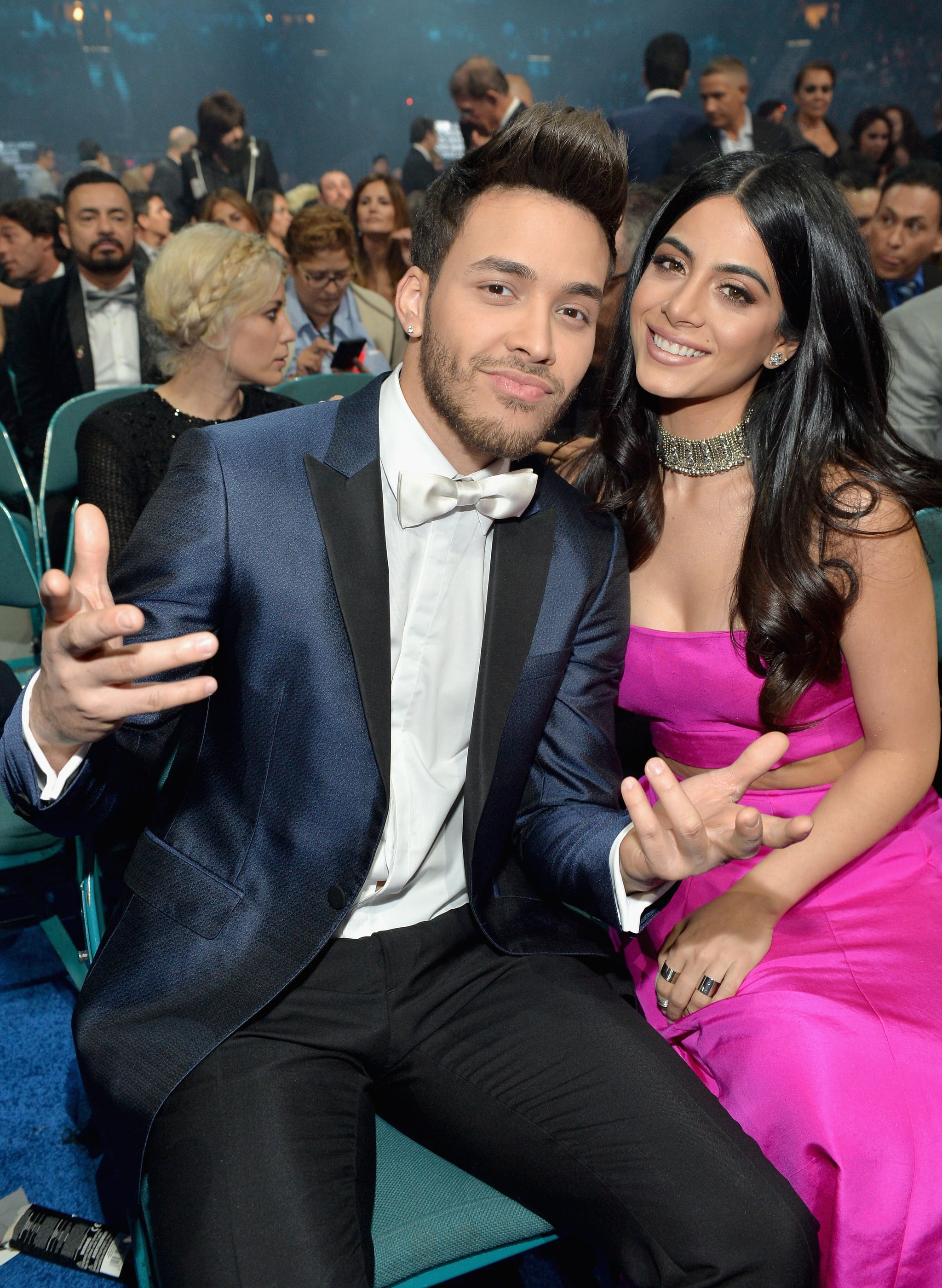 LAS VEGAS, NV - NOVEMBER 19:  Actress Emeraude Toubia (R) and recording artist Prince Royce attend the 16th Latin GRAMMY Awards at the MGM Grand Garden Arena on November 19, 2015 in Las Vegas, Nevada.  (Photo by Rodrigo Varela/WireImage)