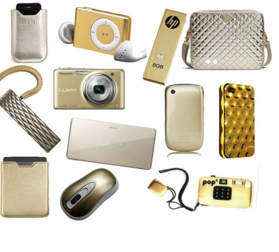Gold Tech Accessories: Laptop Cases, Cameras, iPhone Cases, and More
