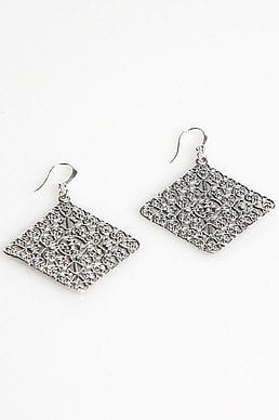 Diamond Istanbul Earrings in Silver: Buy Jessica Elliot Clothing