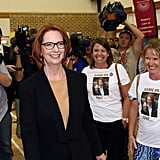 Julia Gillard hosted a community cabinet meeting in Adelaide in Feb. 2013.