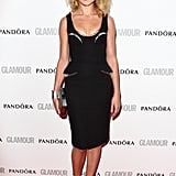 Natalia Vodianova wore a Versace peplum outfit.