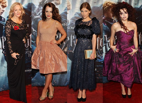 Pictures of Helena Bonham Carter, JK Rowling, Evanna Lynch, Tom Felton at Harry Potter and the Deathly Hallows London Premiere