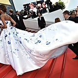 Jourdan Dunn's Wrangler Lifted Her Gorgeous Ralph & Russo Number up the Stairs