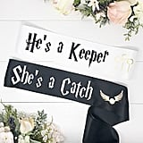 She's a Catch, He's a Keeper Bachelorette Sashes