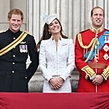Pictured: Prince Harry, Kate Middleton, and Prince William.