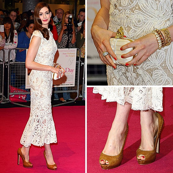 Anne Hathaway At The Hustle Premiere In Hollywood: See Anne Hathaway In Alexander McQueen At One Day Premiere