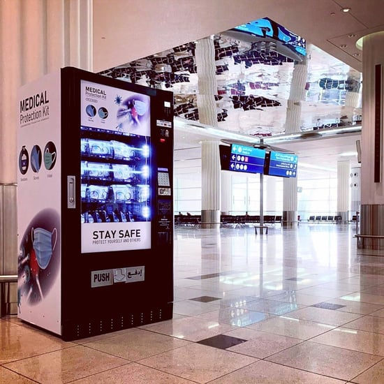مطار دبي يطلق أجهزة بيع إلكترونية لمعدات الوقاية من كوفيد-19