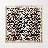Ganni Leopard-Print Silk Scarf