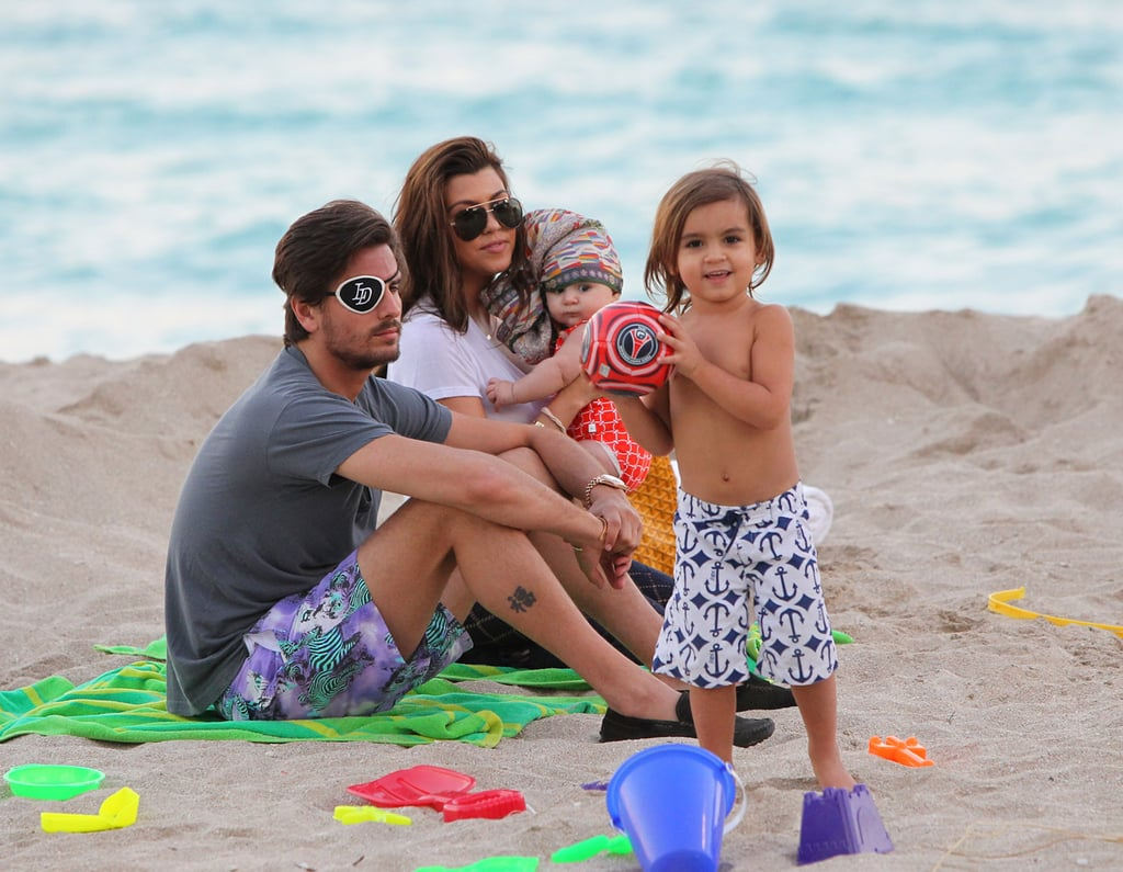 Kourtney Kardashian and Scott Disick hung out in Miami with their kids.
